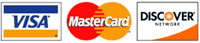 We accept Visa, Discover, MasterCard, cash, and check